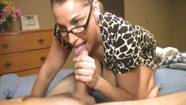 Horny milf at work